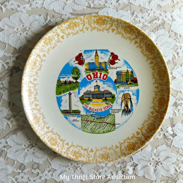 vintage state souvenir Ohio plate