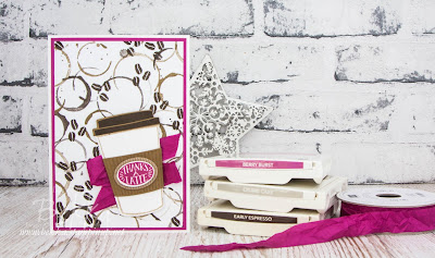 Coffee Break Suite Thank You Card.  Buy everything you need to make this card here