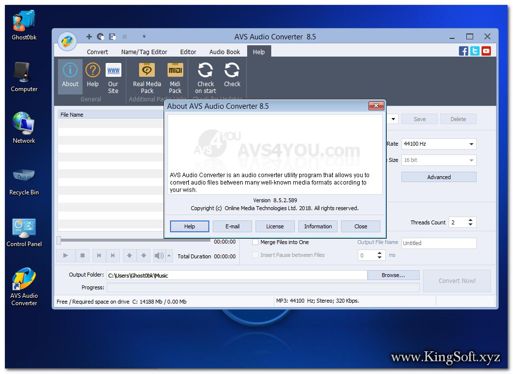 AVS Audio Converter 8.5.2.589 Full Key, Phần mềm chuyển đổi nhiều định dạng âm thanh.