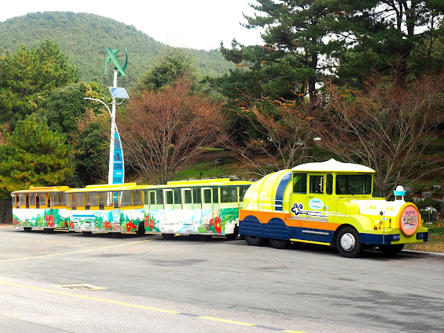 The Danubi train in Taejongdae Park, Busan, South Korea