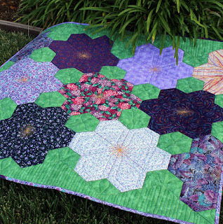 Hex-n-More-Jeweled-Flower-Garden-Baby-Quilt