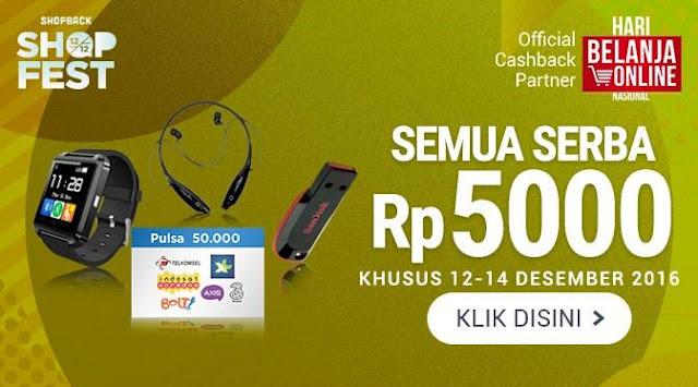 Coba Belanja Online dan ShopBack dengan Promo Serba Rp 5.000