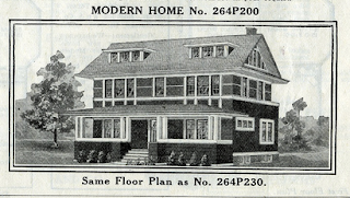 1916 Sears Modern Homes catalog view of Sears No. 200