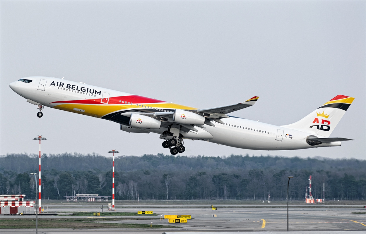 Air Belgium With Airbus A340-300 Takeoff Effort