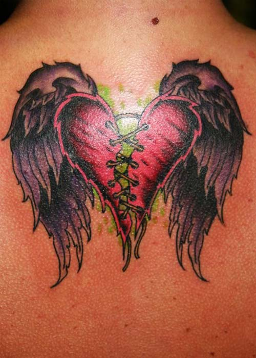 kırık kalp dövmesi broken heart tattoo