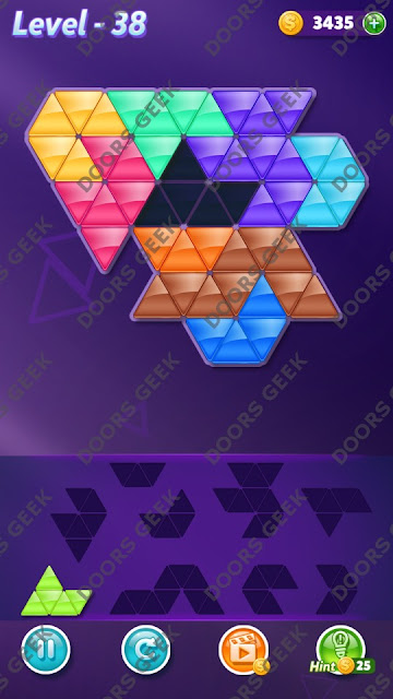 Block! Triangle Puzzle Proficient Level 38 Solution, Cheats, Walkthrough for Android, iPhone, iPad and iPod