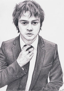 Brilliant drawing of Jamie Cullum by Timothy Crabbé