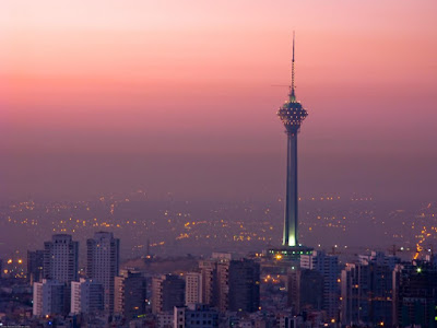 Milad Tower rises 435 meters tall is located in the north of the city and is the sixth television and telecommunications tower in the world