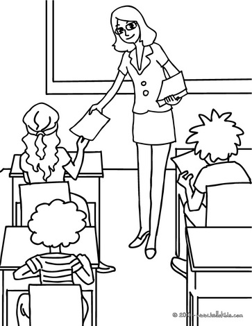 Free Coloring Pages Printable: Teacher Coloring Pages