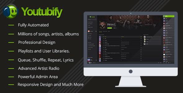Youtubify v1.9 – Youtube Music Engine PHP Script