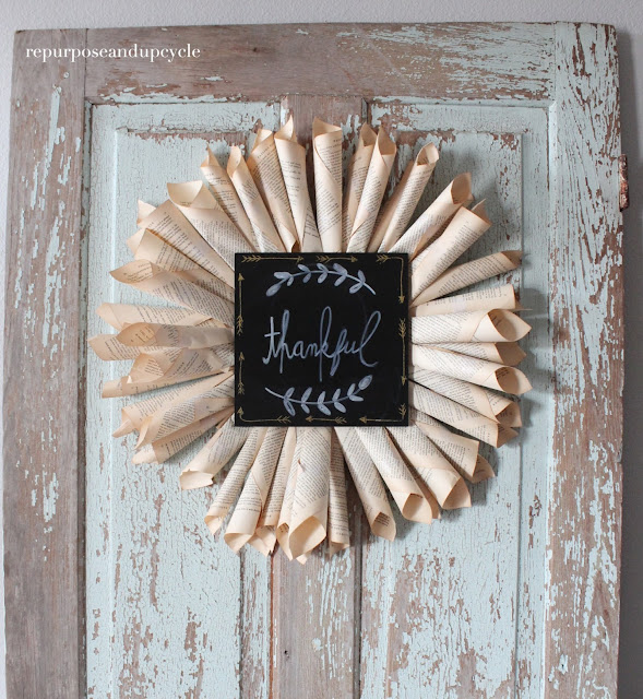 book page wreath diy