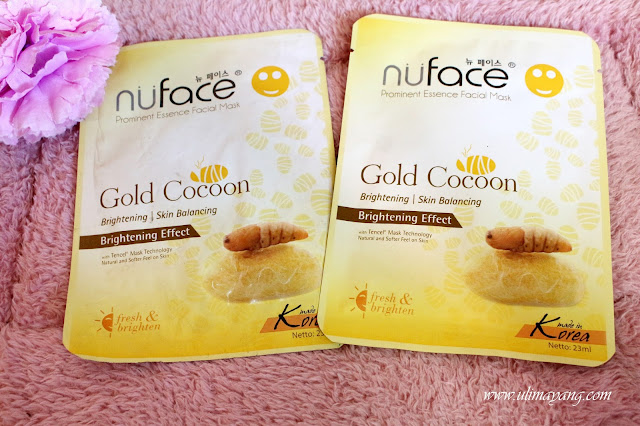 Review nuface prominent essence facial mask gold cocoon brightening