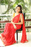 Lasya Cute Beauty in Saree Backless Choli at her Interview ~  Exclusive 035.JPG