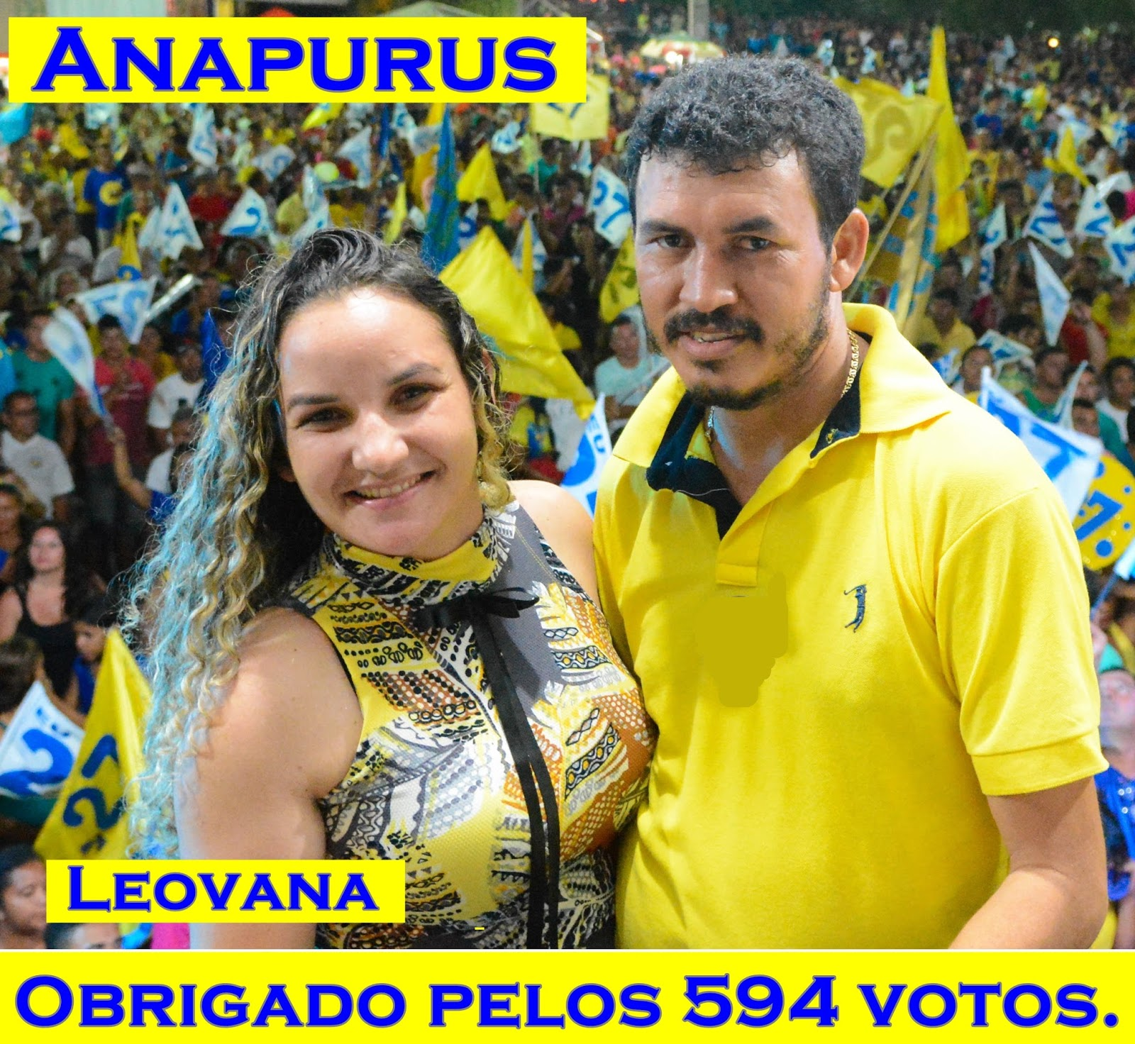 """Anapurus! Vereadora eleita """"Leovana"""" agradece os 594 votos obtidos com carinho pelo povo anapuruense."""