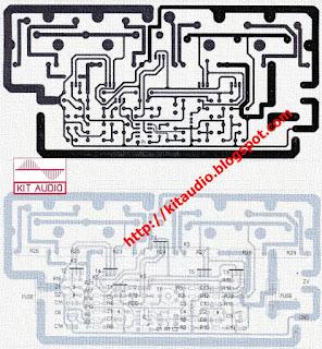 Amplifier 250 - 500W pcb