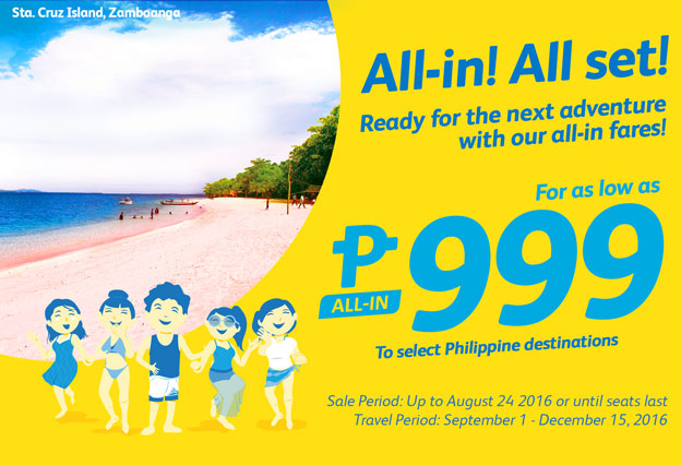 All-In Fare Promo 2016