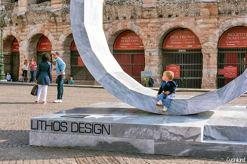Verona mit Kleinkind