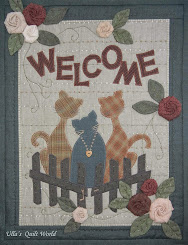 Cats wall hanging quilt. TUTORIAL for roses