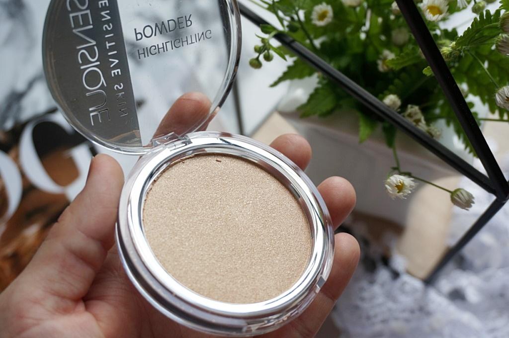 Sensique highlighting powder makijaż rozświetlacz