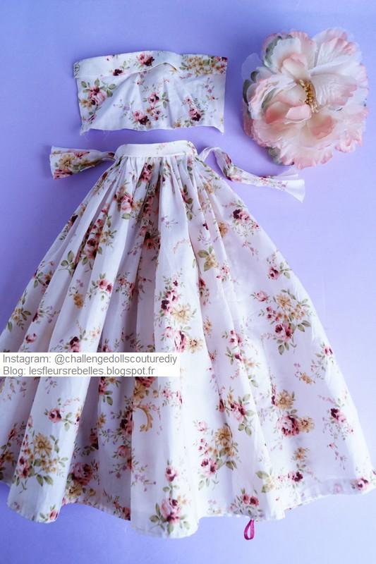 Tenue jupe et robe fleurie
