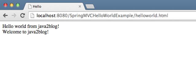 Spring MVC ModelMap - Java2Blog