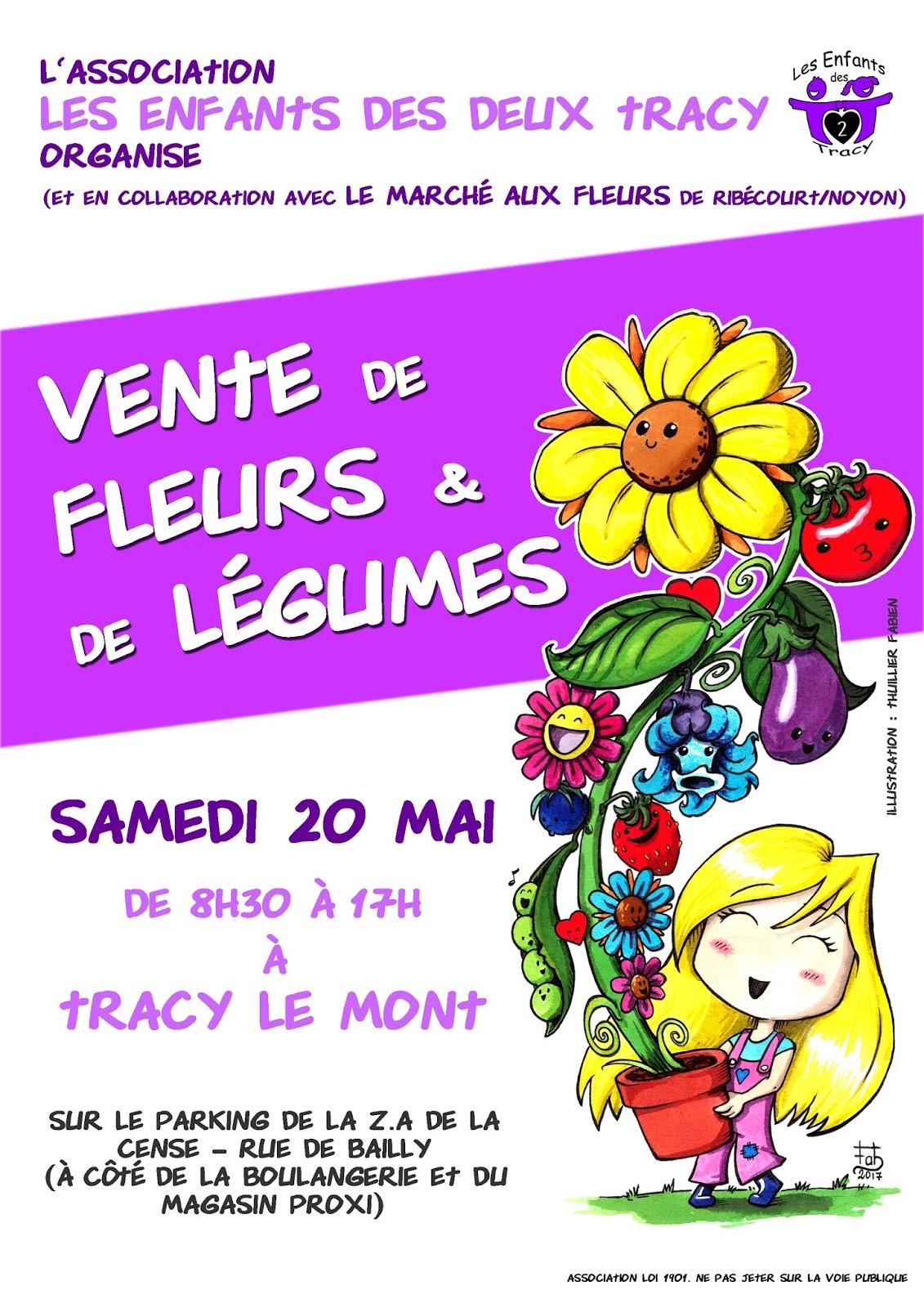 les enfants des 2 tracy vente de fleurs et de l gumes le 20 mai. Black Bedroom Furniture Sets. Home Design Ideas