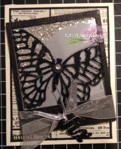 lizhollowaydesign: Inlay butterfly, shaker card, card, 3D, papercraft