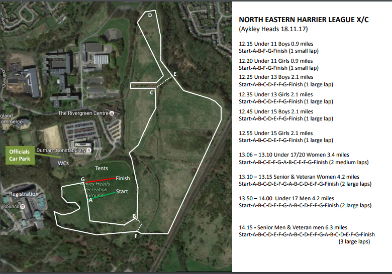 start fitness north eastern harrier league nehl 3 aykley heads (durham)the aykley heads hl x c is organised by elvet striders, derwentside ac \u0026 durham city harriers there will be over 70 volunteer marshals there on saturday to