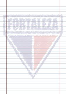 Papel Pautado do Fortaleza rabiscado PDF para imprimir na folha A4