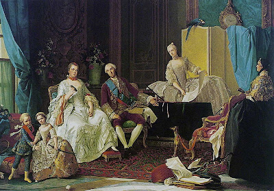 Portrait of the Family of Philip of Parma by Giuseppe Baldrighi, 1755