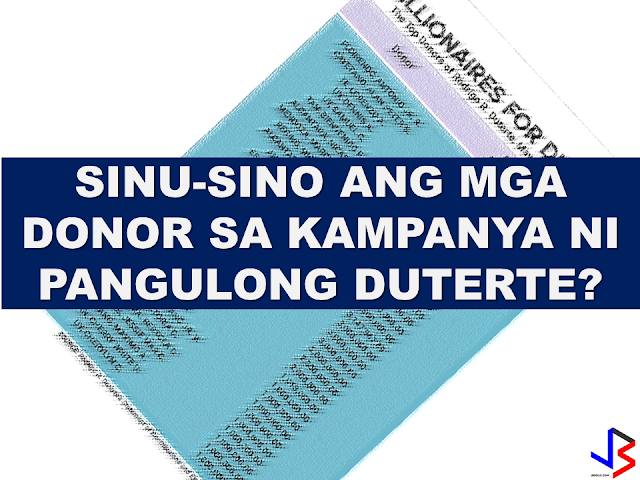 "During  President Rodrigo Duterte's  presidential campaign, he described his donors as ""Emilio Aguinaldo"" symbolizing poor people who could afford   to contribute as little as 5 pesos to help him for the campaign. On his Statement of Contributions and Expenditures (SOCE) he filed with the Commission on Elections (Comelec) after he won the presidency seem to tell a different story. According to his SOCE, the P375 million fund Duterte has raised for his campaign came  from big businessmen.  13 biggest donors who donated  P5 million or more for his campaign already comprises 89.28 percent or P334.8 million of his total campaign fund. Small donations or those P10,000 and below amount to just P175,313 — less than half of one percent or merely 0.046 percent of Duterte's total campaign fund.  About 18 other donors who donated from P1 million to P3.5 million with an additional P31.66 million, to Duterte's campaign.   The Philippine Center on Investigative Journalism has released a list of President Duterte's top campaign donors they claim to be from the president's SOCE. It includes some prominent politicians like his running mate Senator Allan Peter Cayetano who donated  P71.3 million, former MMDA Chairman Francis Tolentino ( P3.1 million), Alfredo Lim (P1 million) , Executive secretary  Salvador Medialdea among others.   Aside from the businessmen and the millionaires, the unsung donors of the Duterte campaign are the Overseas Filipino Workers (OFWs) who devoted their time supporting President Duterte in social media, making their own banners, making memes and sharing it throughout social media sites , encouraging their friends and relatives to vote for President Duterte. According to the DFA, the total turn-out of the Overseas Absentee Voting for the 2016 election has overwhelmingly  set a new record high. The total OFWs who registered for the election reached  to 1.3 million from the 737,000 registered in 2013.   The reports about Duterte donors who got favors  from the president is however true, and the biggest favor is given by the President to the OFWs and their families, who are now enjoying the benefits of the programs this administration has formulated and implemented for them.   RECOMMENDED READINGS: FOR OFWS WHO WANT TO STAY HERE FOR GOOD, PUT UP A BUSINESS HERE- DTI  DUTERTE ACCOMPLISHMENTS IN JUST 100 DAYS    ©2016 THOUGHTSKOTO"