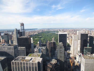 Central Park View from Top of the Rock