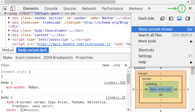 wildergonzo blog: Change the Browser User-Agent by using Chrome DevTools