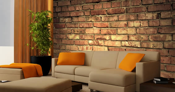 Brick Wall Murals Old
