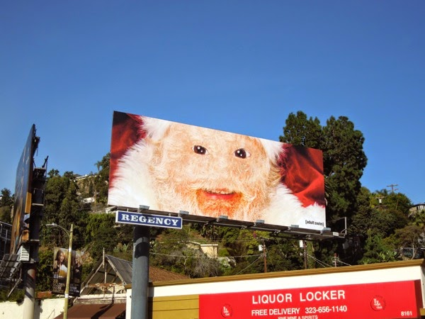 Creepy Adult Swim Santa billboard 2014