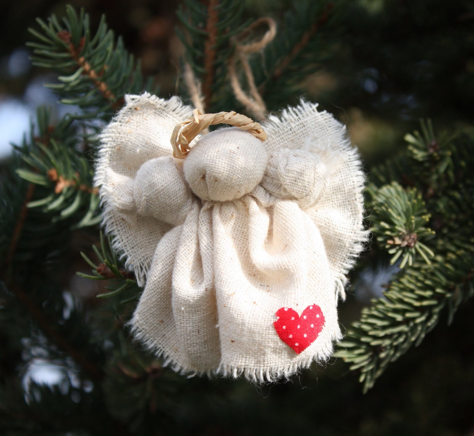 rustic christmas angel pin and ornament - Handmade Angels Christmas Decorations