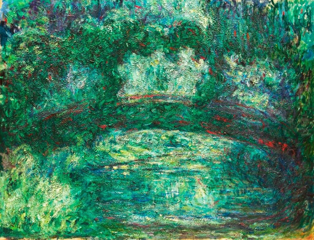 Claude Monet Le pont japonais. 1918