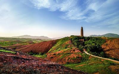 Geoparque Huanggang Dabieshan, China.