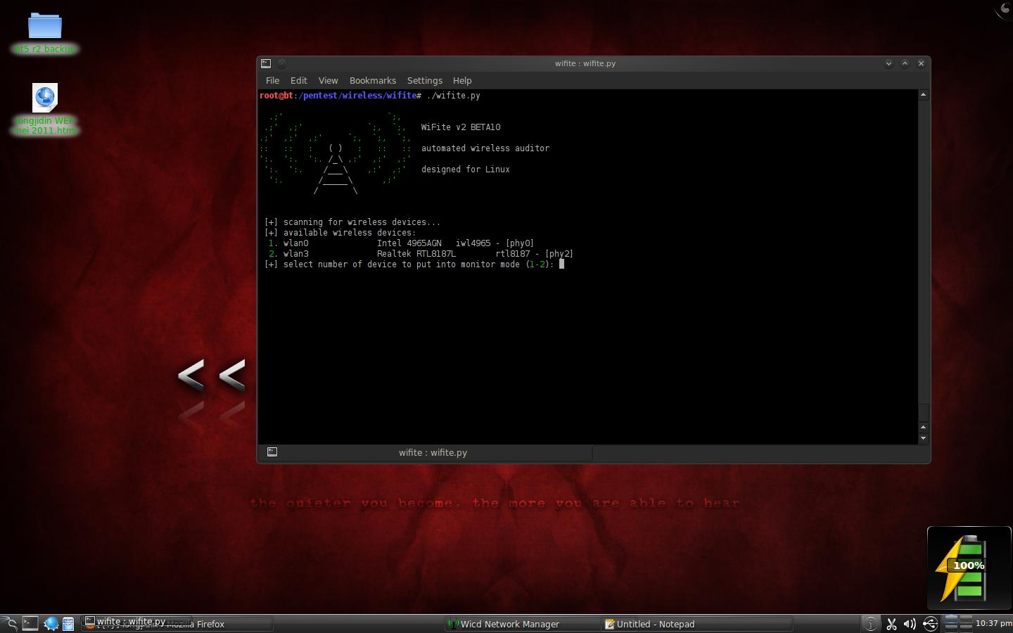 longjidin: Wifite + Reaver WPA/WPA2 crack in BackTrack 5 R2