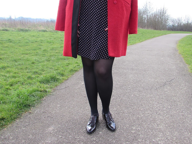 polka dot dress in winter