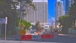 Light Rail Construction Staghorn Ave Surfers Paradise