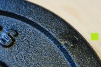 Tropfen: 1 Kurzhantel Hantelstange + 2 Hantelscheiben aus 100% Gusseisen / Sternverschluss / in 1,25kg 2,5kg 5kg oder 10kg / 30mm Bohrung / Mattschwarz / In unterschiedlichen Varianten