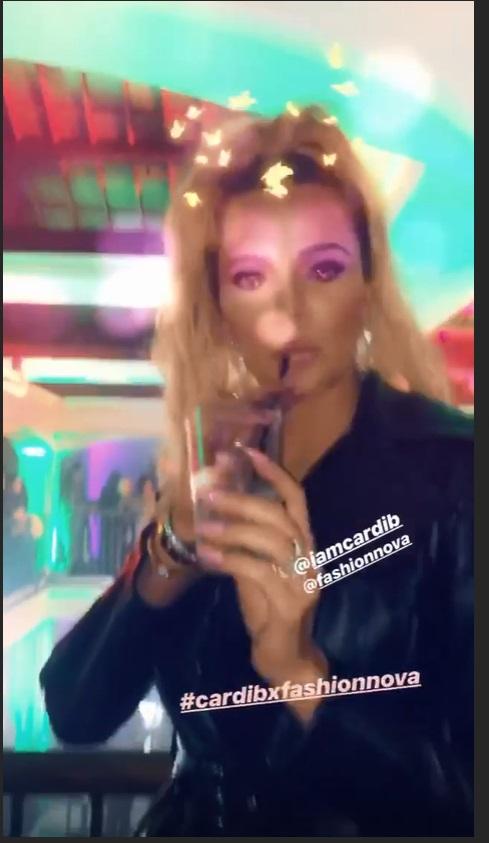 Khloe Kardashian in fashionnova X Cardi B bollection for Dream's 2nd birthday party