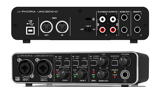 Behringer U-Phoria UMC204HD Placa de audio (13200 Mt)