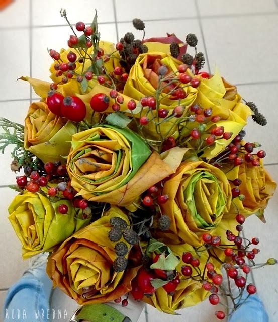 jak zrobic roze z lisci