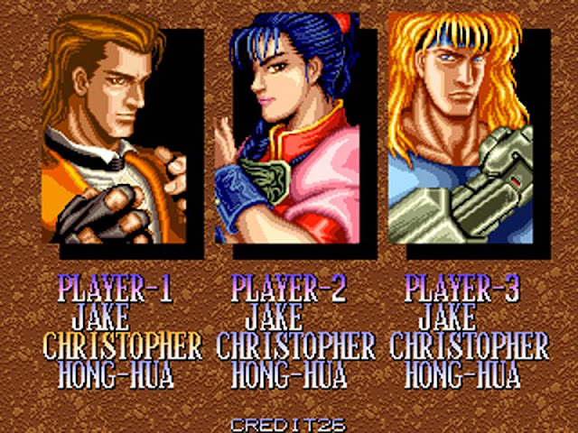 Night slayer arcade game selec player
