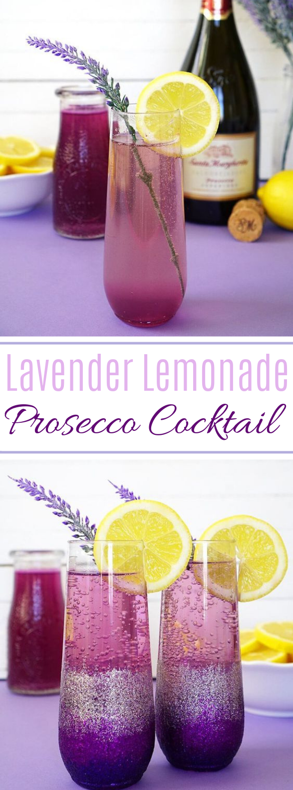 Lavender Lemonade Prosecco Cocktails #drinks #party