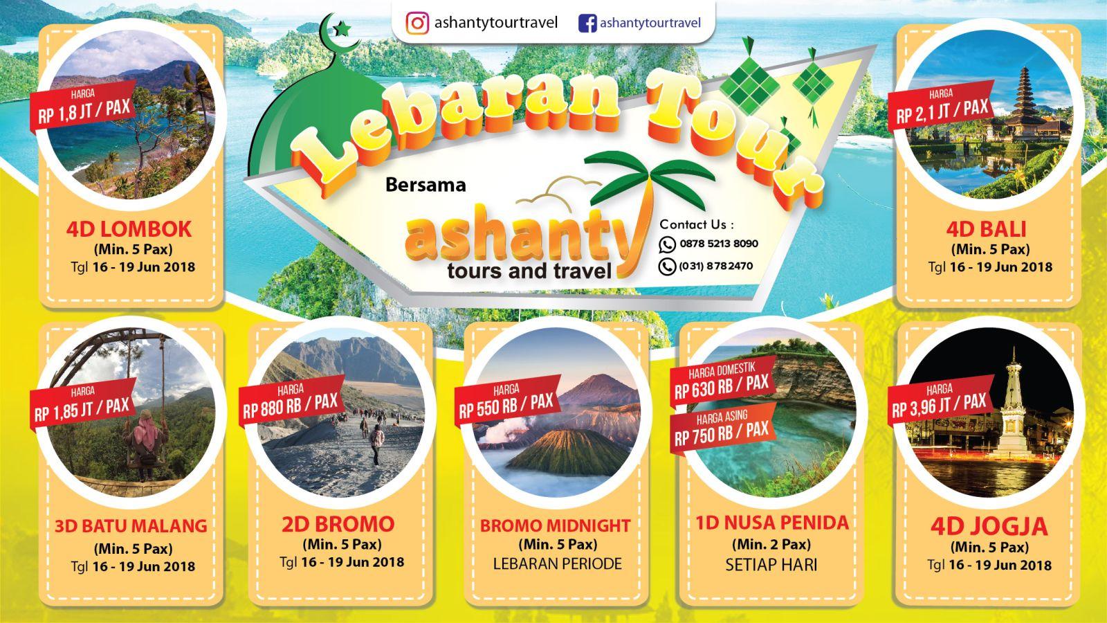 promo lebaran tour 2018 dari surabaya