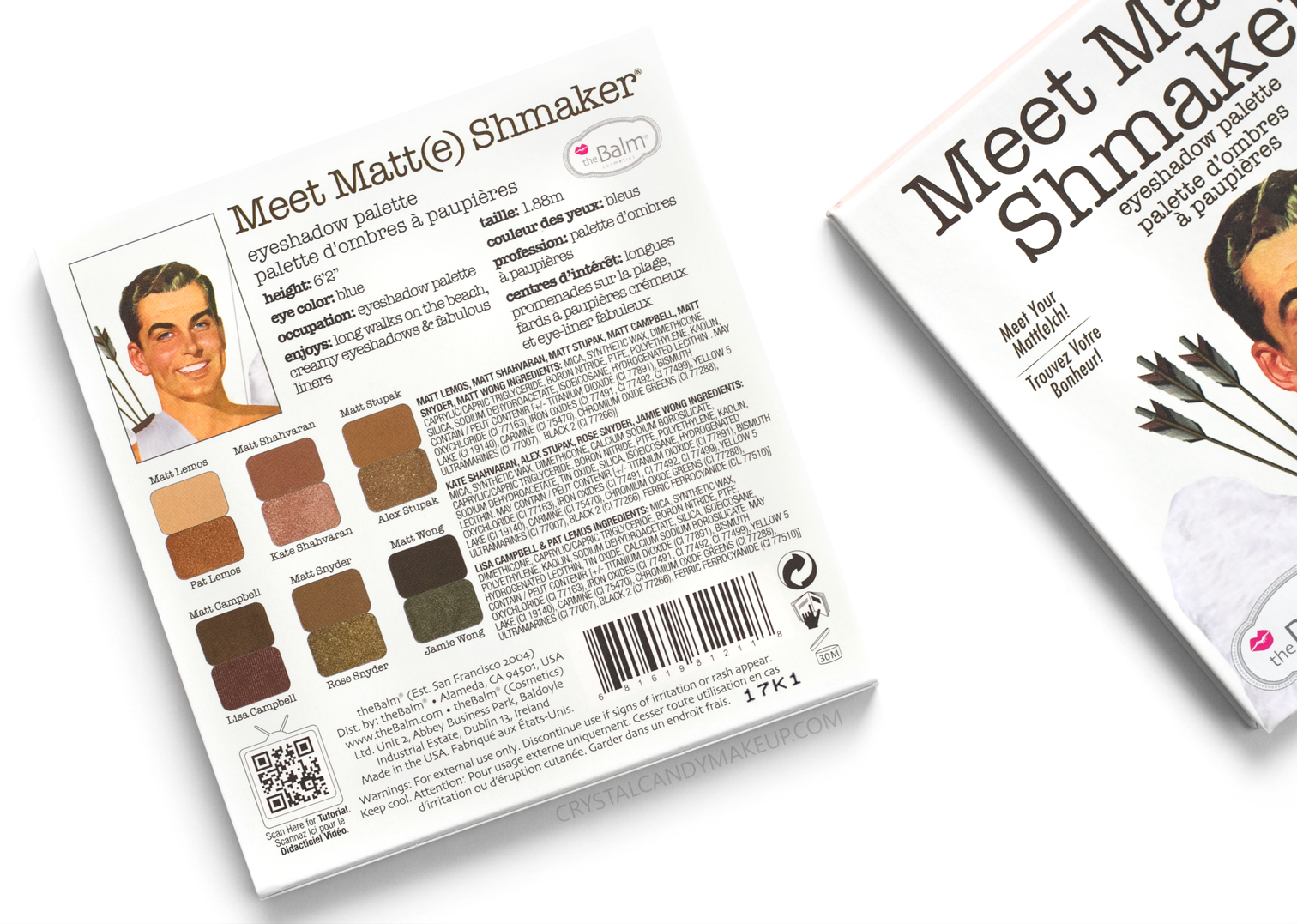The Balm Meet Matt(e) Shmaker Eyeshadow Palette Review