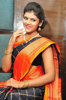 Model Sangeeta Kamath Pictures in Saree at Silk India Expo Curtain Raiser  0023.JPG
